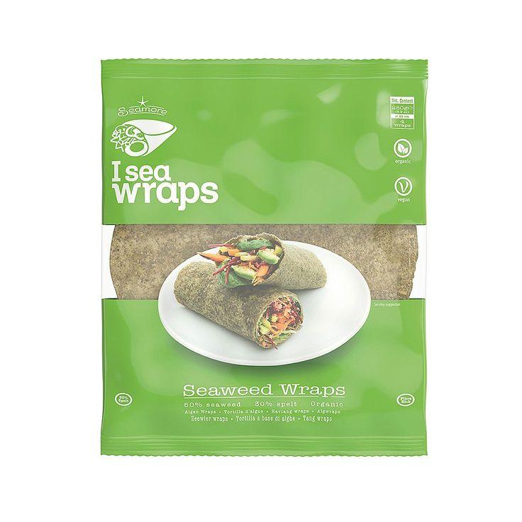 Organic seaweed wrap, made of 50% seaweed, 30% spelt flour.
