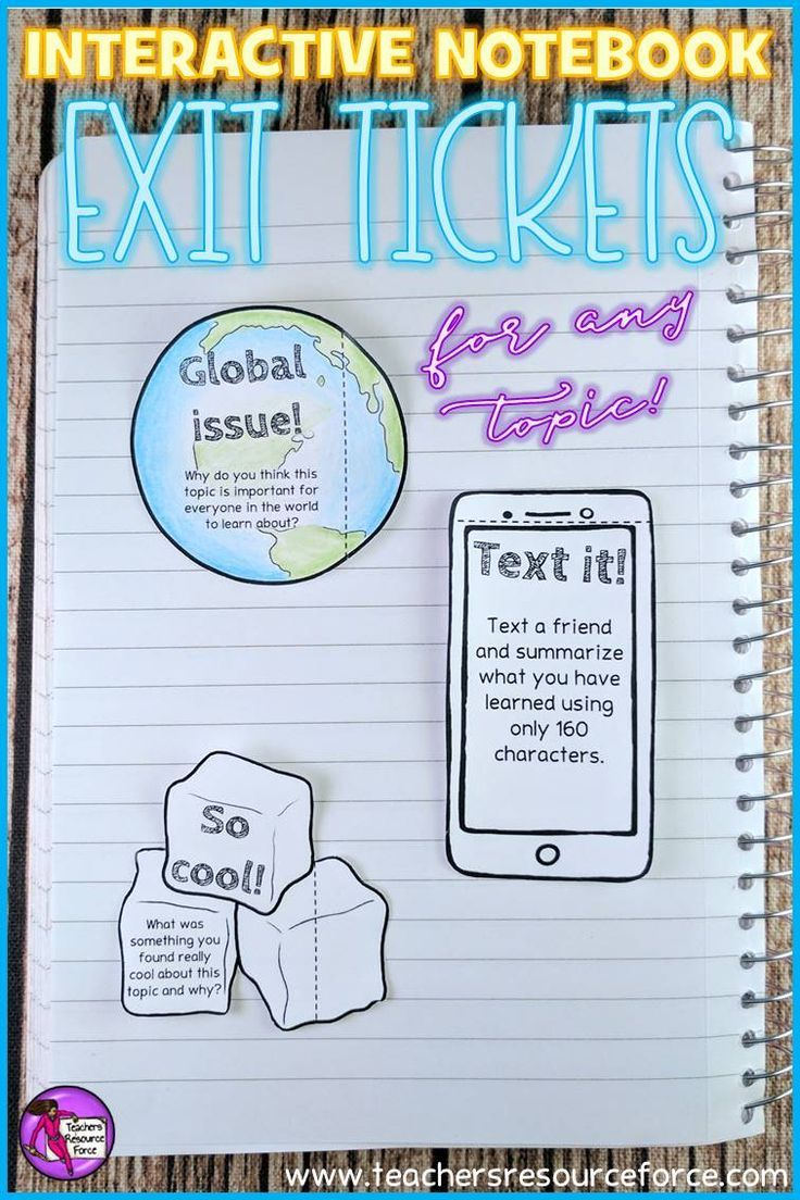 Student self assessment is a great way to check for understanding. Students love Interactive Notebooks and this editable resource is a fun and unique set of printable foldable exit tickets that enable students to reflect on their learning in a fun and modern way! They are great for early finishers and also provide you with great feedback to assess student progression in your lesson! @resourceforce