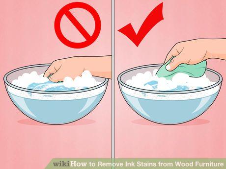 remove ink wood furniture 2