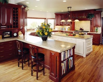 Ideas for natural wood cabinets and floors Should they