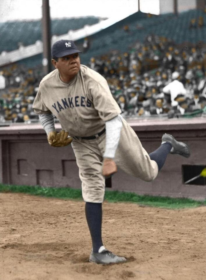 Baseball. El legendario Babe Ruth, mejor jugador de todos los tiempos.                                                                                                                                                      Más