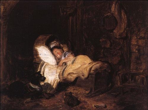 """""""Το παιδί που κοιμάται"""", Γύζης."""