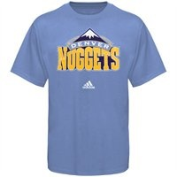 adidas Denver Nuggets Light Blue Primary Logo T-shirt: Logos T Shirts, Primary Logos
