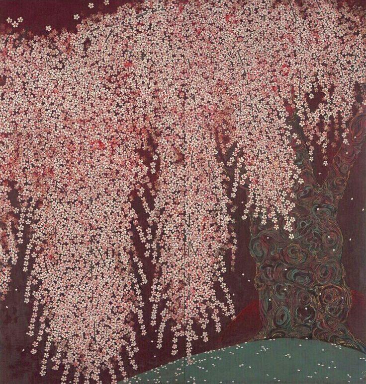 Reiji Hiramatsu Four seasons cherry tree, evening cherry tree