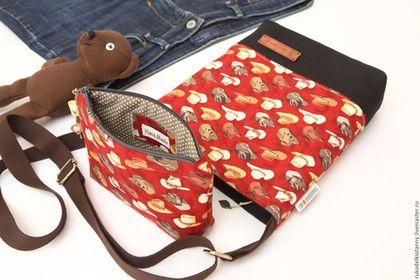 """Купить Сумка через плечо """"Ковбойские шляпы"""" - сумка, сумка женская, женская сумка"""
