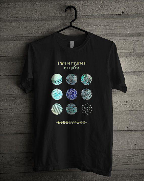Twenty One Pilots 21 Pilots Black T shirt Blurryface by budiyono1