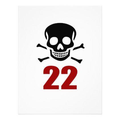 #22 Birthday Designs Letterhead - #giftidea #gift #present #idea #number #22 #twenty-two #twentytwo #twentysecond #bday #birthday #22ndbirthday #party #anniversary #22nd