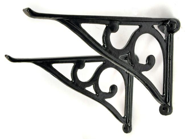 simple scroll cast iron shelf bracket