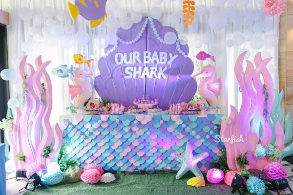 Aaliyah S Quirky Baby Shark Themed Party Baby Girl Birthday