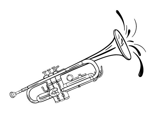 coloring pages of trumpets - photo#8