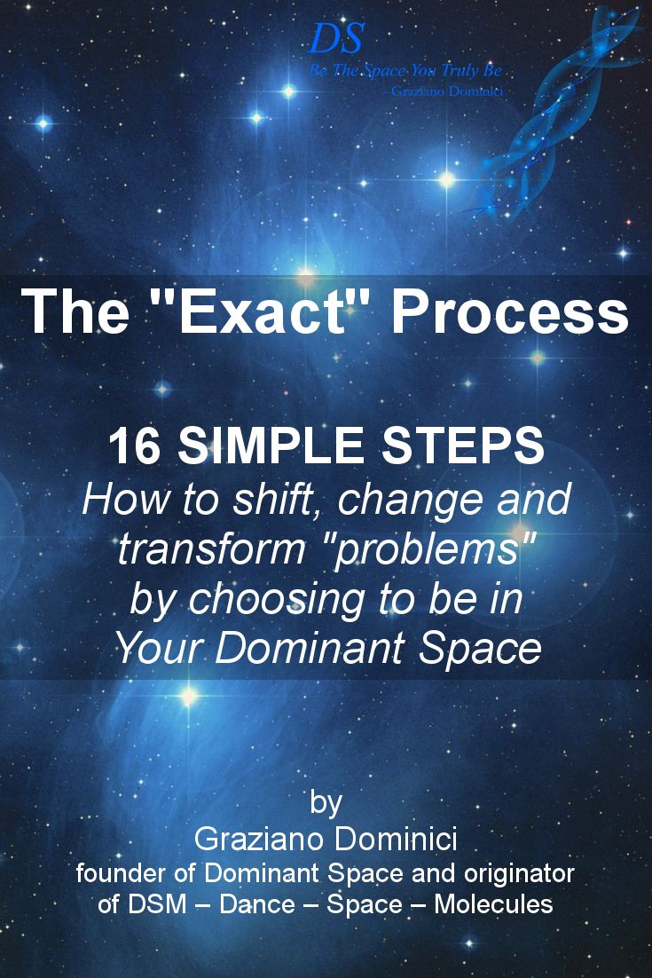"A step-by-step process of how to perceive any ""problem""– no matter what the problem is or how ""bad"" it seems – as a SPACE, so you can then choose to validate, shift, change or transform it. Read more on our blog and be the space you truly be! :)  #DominantSpace #BeTheSpaceYouTrulyBe #blog"