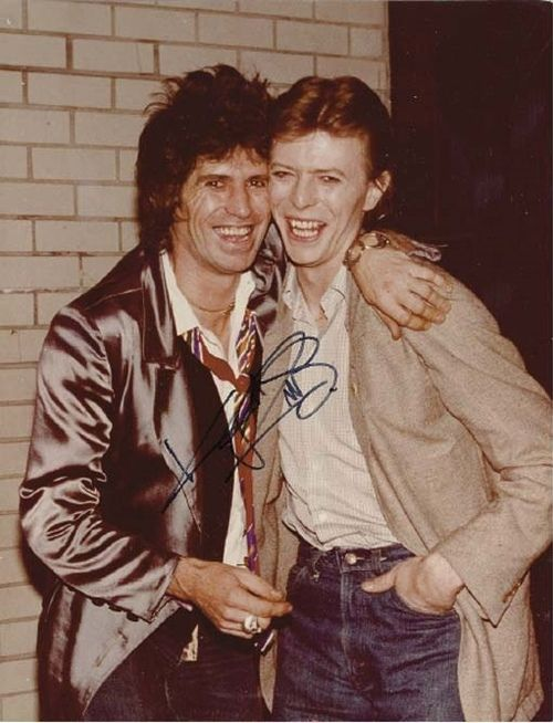 DAVID BOWIE & KEITH RICHARDS  Tumblr