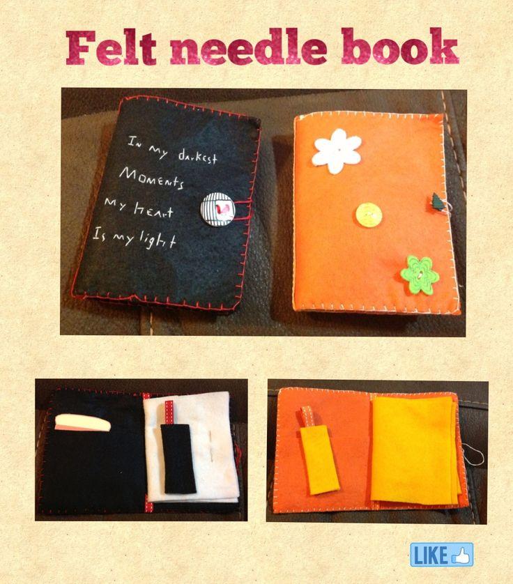 Diy Felt Book Cover ~ Best images about felt needle book on pinterest nice