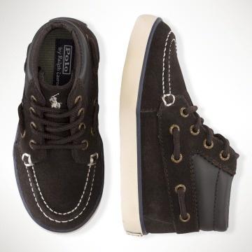 Ralph Lauren Sander Mid Suede Sneaker Shoes