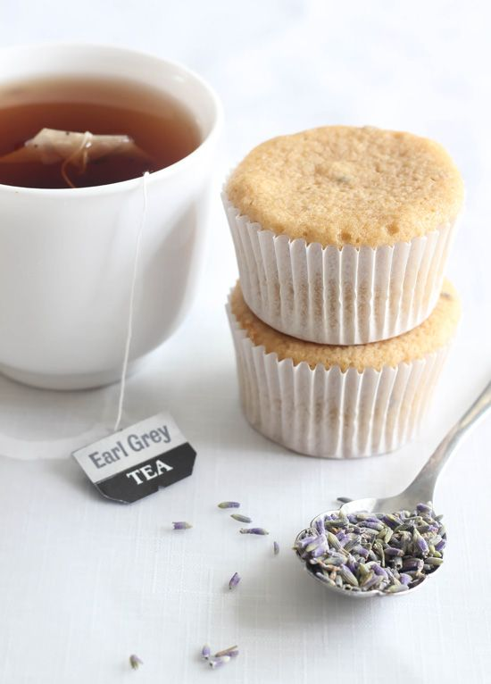 Lavender Earl Grey Cupcakes | BHG Delish Dish with chai instead