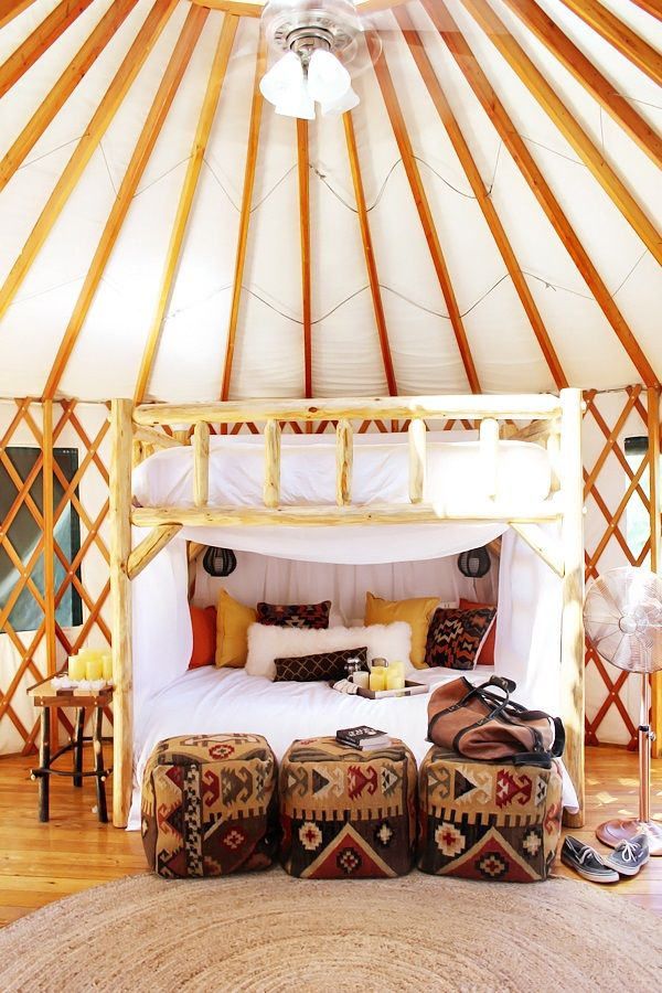 23 best images about yurt style on pinterest home for Glamping ideas diy
