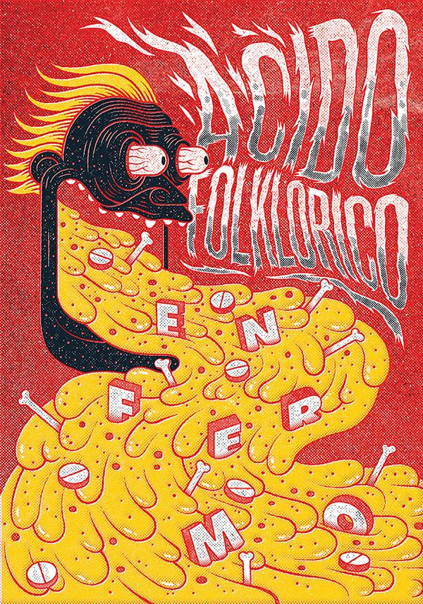 "POGO - Colombian Hardcore Design - Acido Folklórico ""Enfermo"" by Iconblast, 2014"