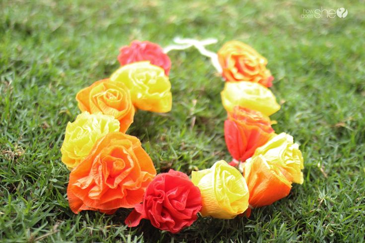DIY Pretty & Easy Faux Flower Lei: It's Time to Celebrate Spring