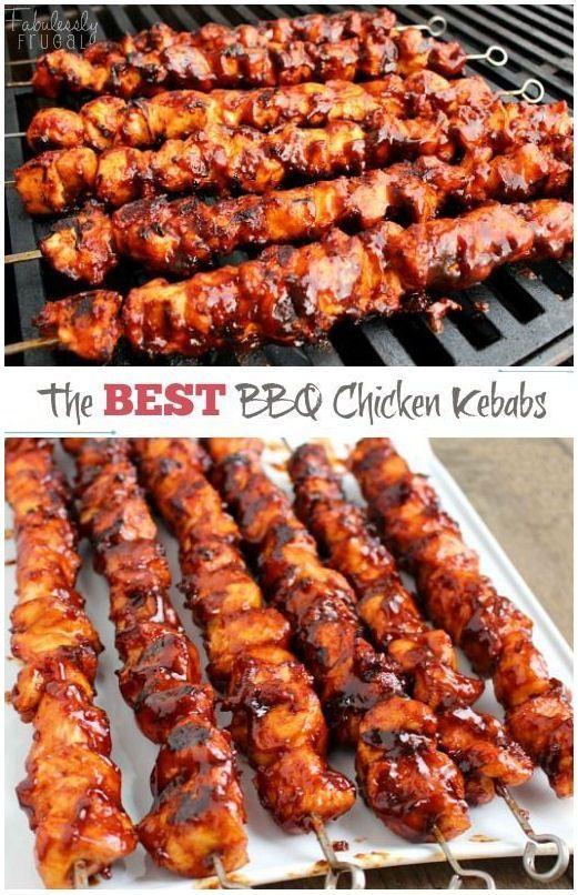The Best BBQ Chicken Kebabs summer food ideas #summer summer drinks