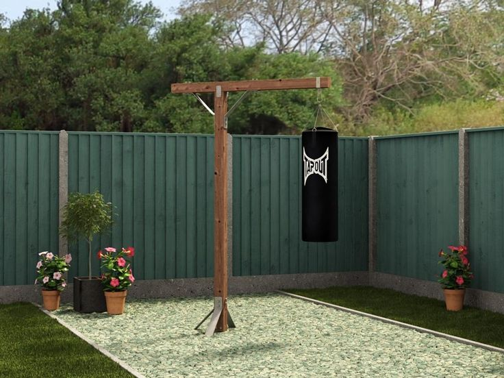 Boxing Bag Stand W1.4m x D0.7m - If you are looking to get fit and healthy solo boxing training is fantastic for cardiovascular fitness because it requires interval training. A further benefit is that boxing training can reduce stress. Now all you need is Dunster House Boxing Bag Stand to get started. Constructed from high quality spruce timber that is Pressure Treated. The thick 86mm post can withstand the biggest blows and also features galvanised steel brackets to bolt it down to the…