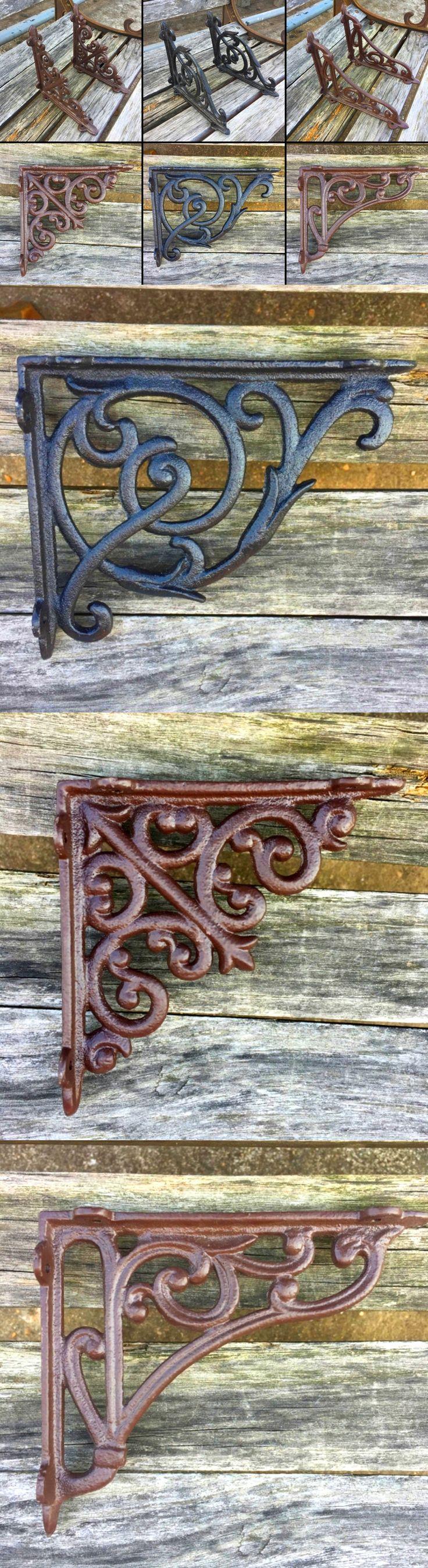 Braces and Brackets 45816: (X2) 4 X4 Heavy Duty Cast Iron Antique Style Garden Wall Brackets Shelf Braces -> BUY IT NOW ONLY: $37.77 on eBay!