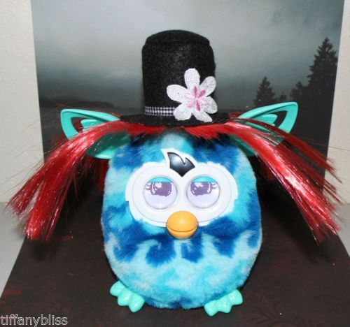 Mad Top Hat Hatter Red Hair Wig Costume For Furby or Furby Boom OOAK