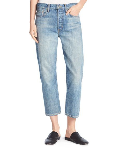 Union Slouchy Denim Jeans, Mid Wash