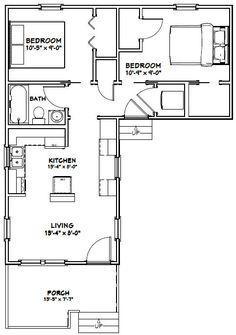 14x32 Tiny House -- #14X32H1L -- 643 sq ft - Excellent Floor Plans ...