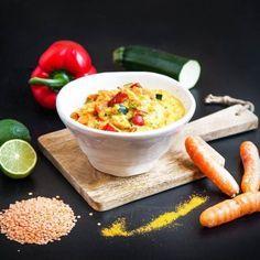 Kokosgryta med curry och röda linser - Recept - Tasteline