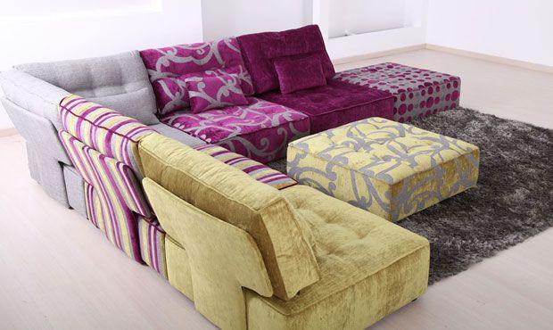 Love multicoloured sofas & chairs