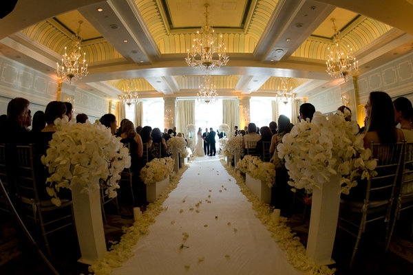 All White Indoor Wedding Ceremony Site: 29 Best Images About Indoor Wedding Aisle On Pinterest