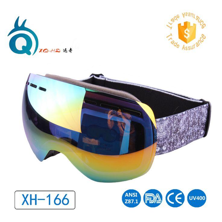 Free Shipping Men's Women's Skiing Eyewear Double Layer Large Snow Goggles eye Protection Anti-fog mirrored lens Ski Googles #Affiliate