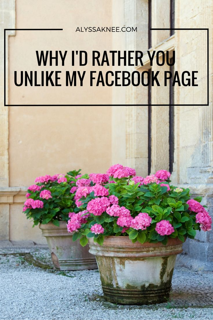 You shouldn't be upset that people unlike your Facebook page... it's a blessing…
