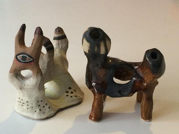 Ceramic sculptures by Emma Larsson @zebrakadebra
