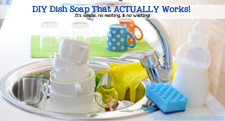 DIY Dish Soap That Actually WORKS - It's Simple, No Melting and No Waiting!
