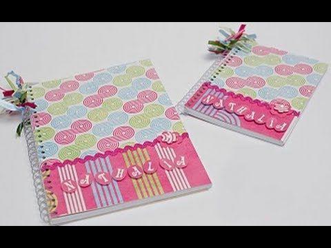 Faça você mesma um caderno decorado