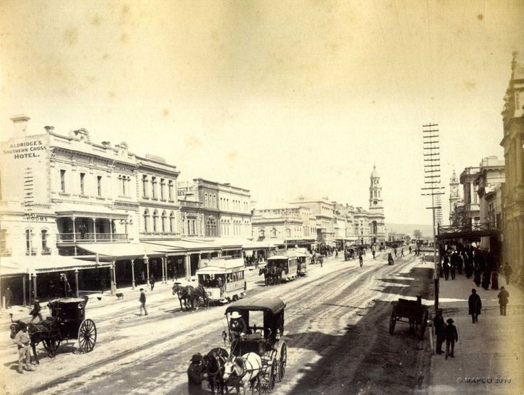 King William Street, Adelaide, South Australia. Photographer: Sweet, Captain Samuel White (attrib.) Year: c1885