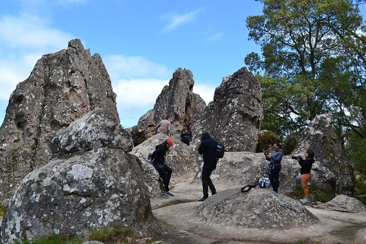 A visitor's experiences at Hanging Rock in Woodend, Melbourne