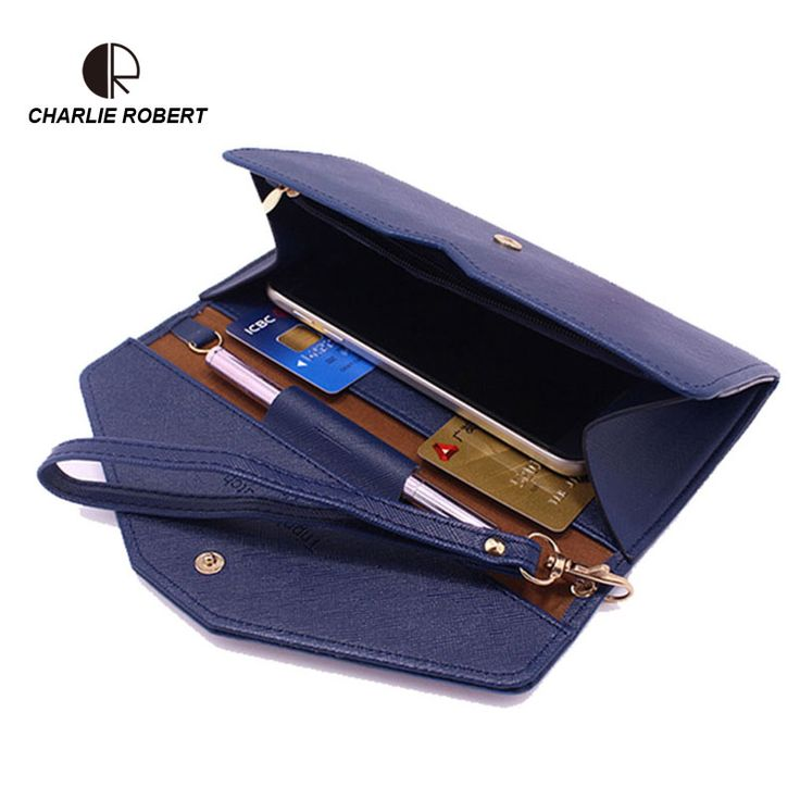 Women Wallet Female Long 2016 Coin Purses Holders Brand PU Leather 3 folder Envelop Clutch  Ladies Long Wallets Women  ** You can get additional details at the image link.