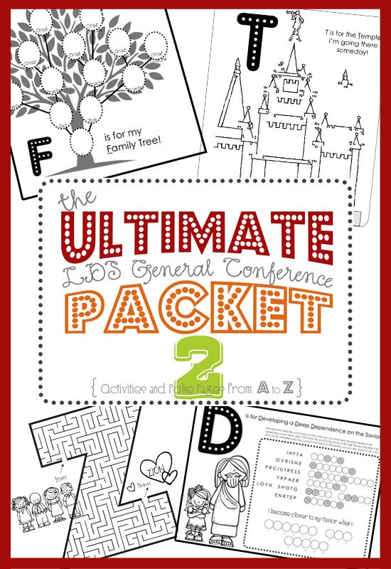 ALL NEW Ultimate LDS General Conference Activity Packet | from FoodStorageAndBeyond.com
