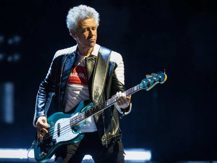 Adam Clayton of the Irish rock band U2 performs at the Bell Centre as part of their iNNOCENCE + eXPERIENCE Tour in Montreal on Friday, June 12, 2015.