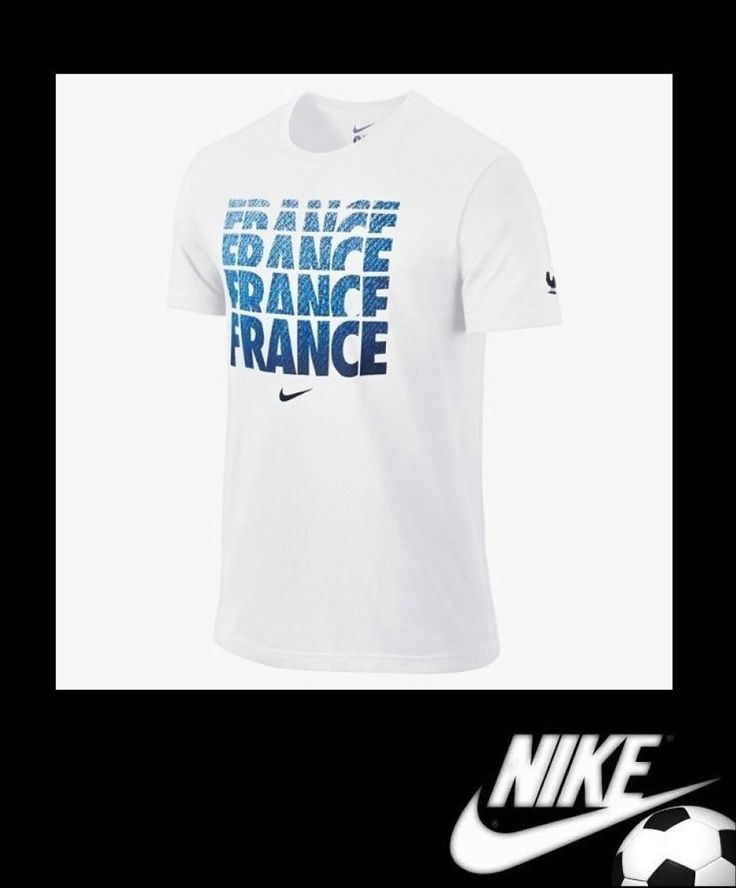 Mens Nike France FFF Core Type T-Shirt White World Cup Soccer Size XL 588229 NWT #Nike #GraphicTee