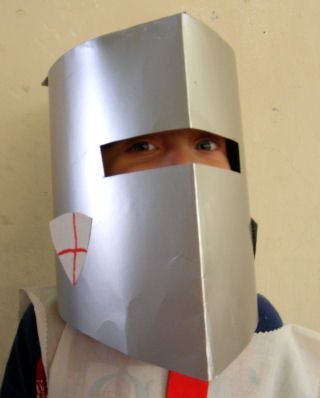 Knight helmet craft