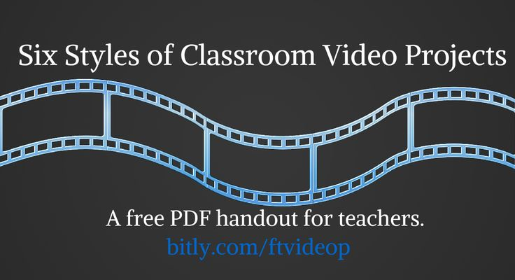 Free Technology for Teachers: Six Styles of Classroom Video Projects - A Handout