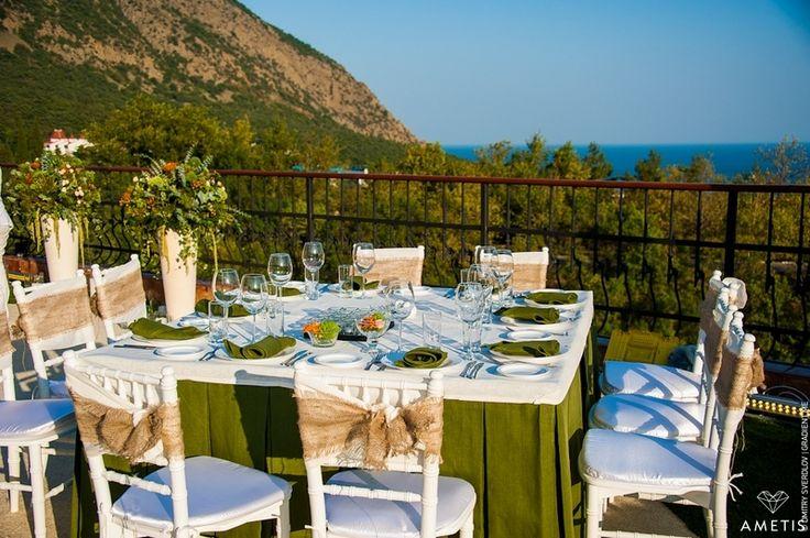 Сад для двоих ... Мечты сбываются, организация свадеб Ялта, оформление столов / Garden for two ... Dreams Come True, weddings Yalta, registration tables