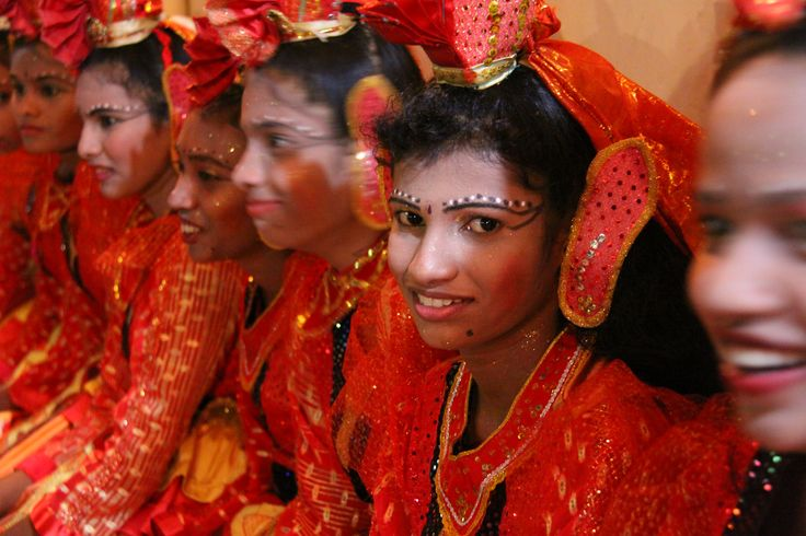 Kataragama hindu religion celebration child girl mask portrait costumes #SriLanka