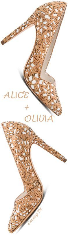 ALICE + OLIVIA Dina Three Heels