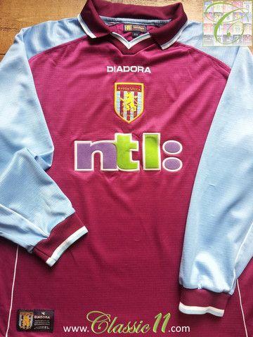 Relive Aston Villa's 2000/2001 season with this vintage Diadora home long sleeve football shirt.