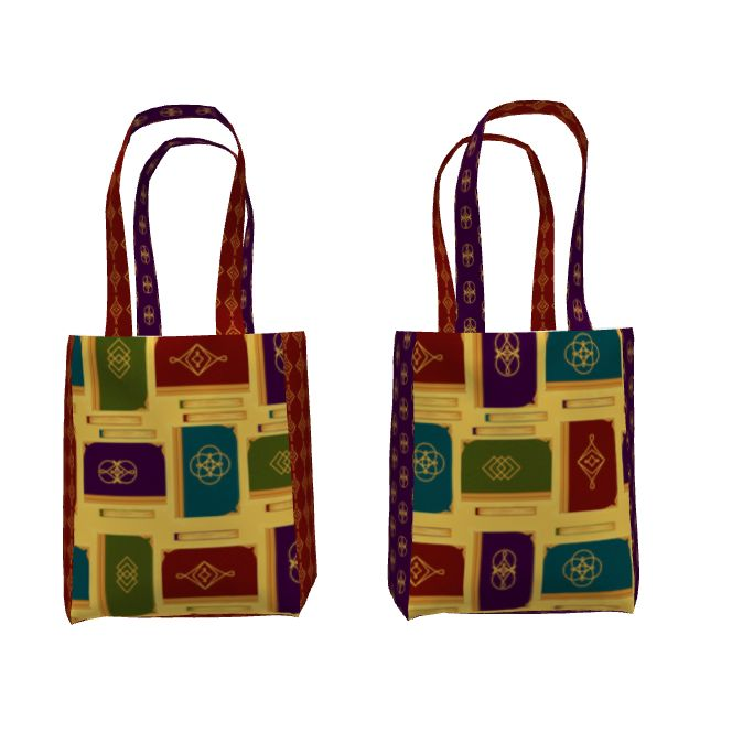 Sprout Studio Everyday Tote made with Magickal Book fabric by artist Tara Crowley. #bookbag  #booktote