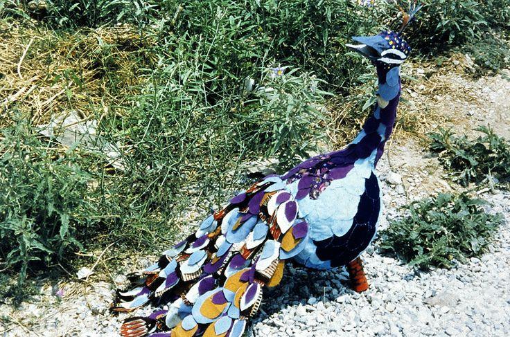 Παγώνι, μικτά υλικά. Peacock, mixed materials. All rights reserved.